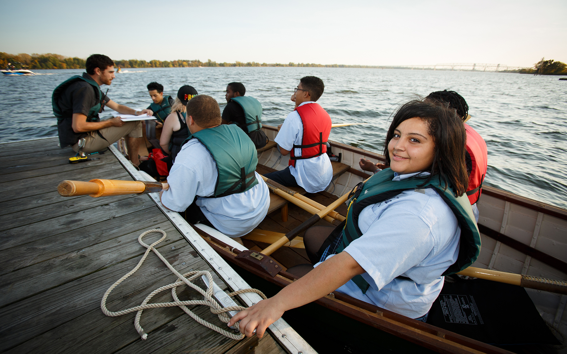 Philadelphia Wooden Boat Factory, students, rowing, sailing