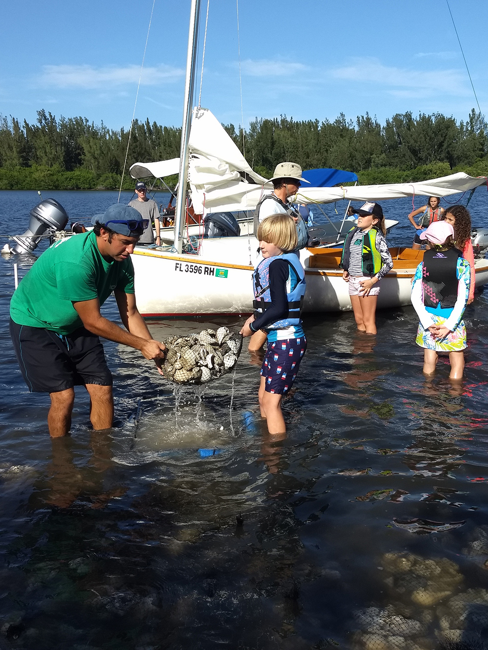 Youth Sailing Foundation, Vero Beach, Florida, ecosystem restoration, oysters, Ocean Research and Conservation Association, Indian River Lagoon