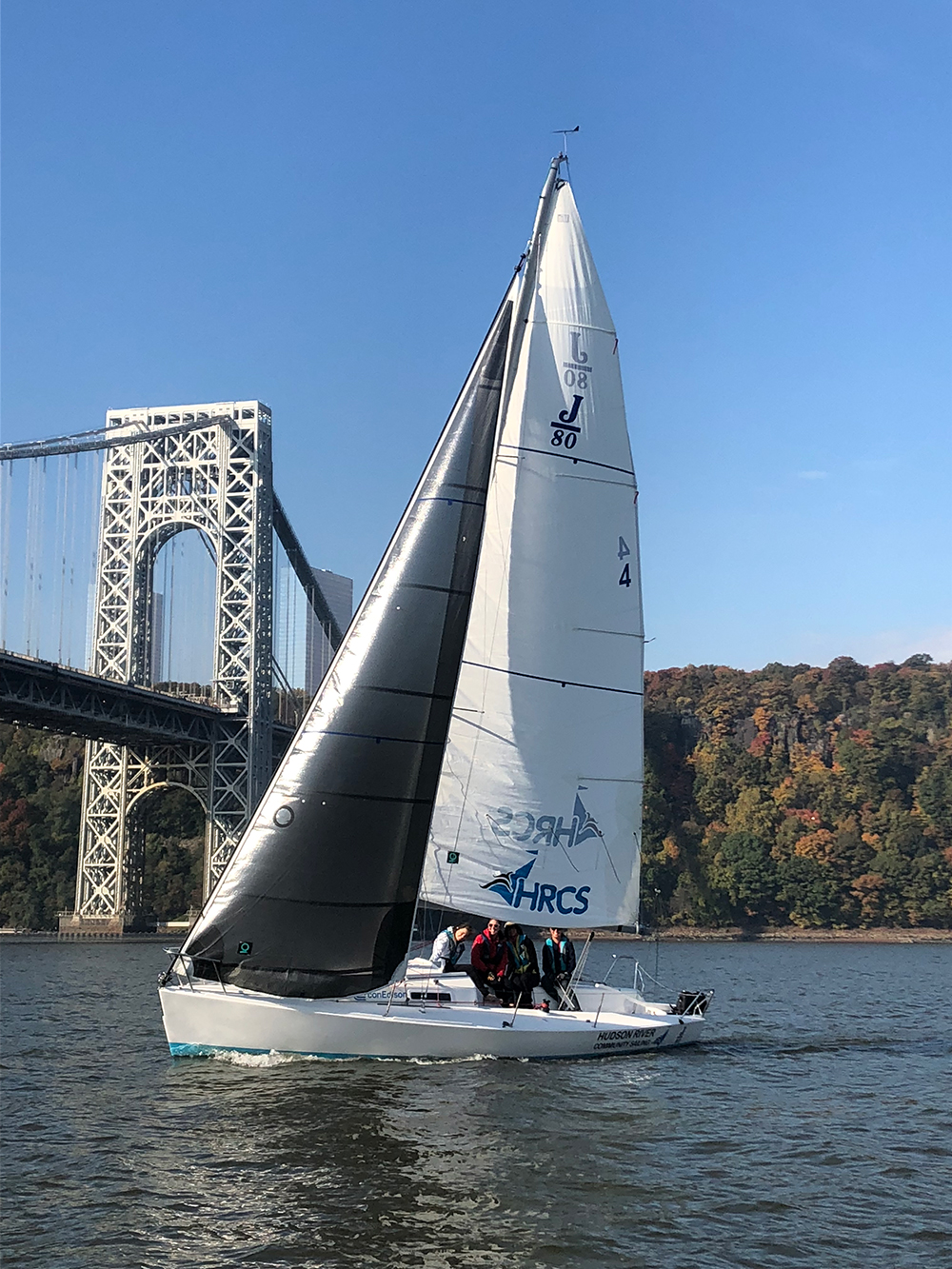 Students sailing on the Hudson River. Photo credit: Hudson River Community Sailing