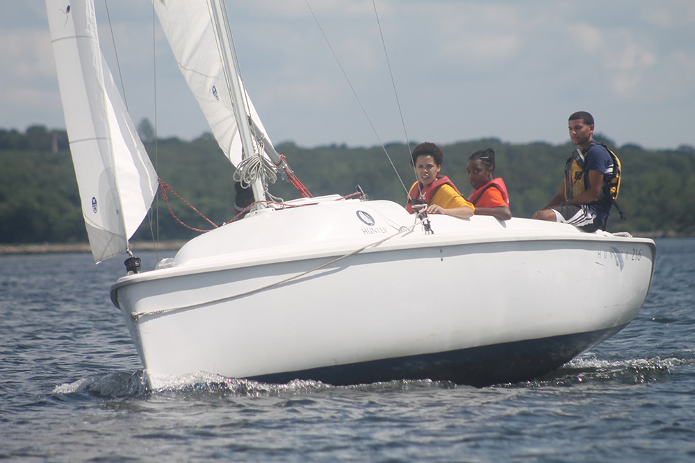 CBC students sail independently in Providence. Photo credit: Community Boating Center Providence