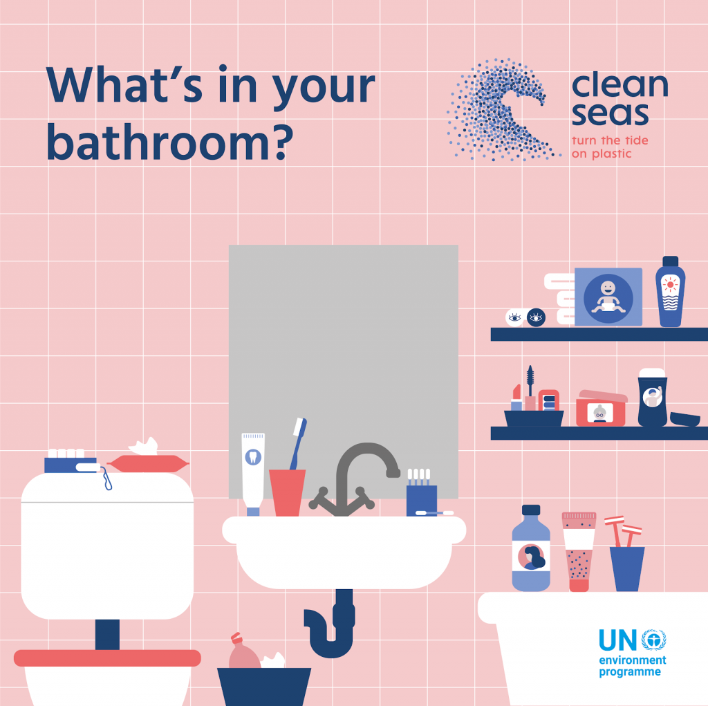 Click here to view an interactive version of the bathroom infographic to learn about what types of plastic could be lurking in your bathroom.