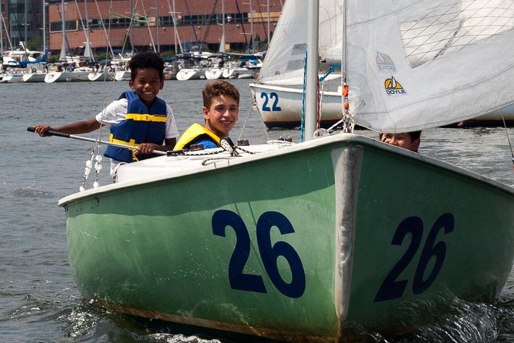 Courageous sailors on the Boston Harbor. Photo credit: Jack Hutchinson