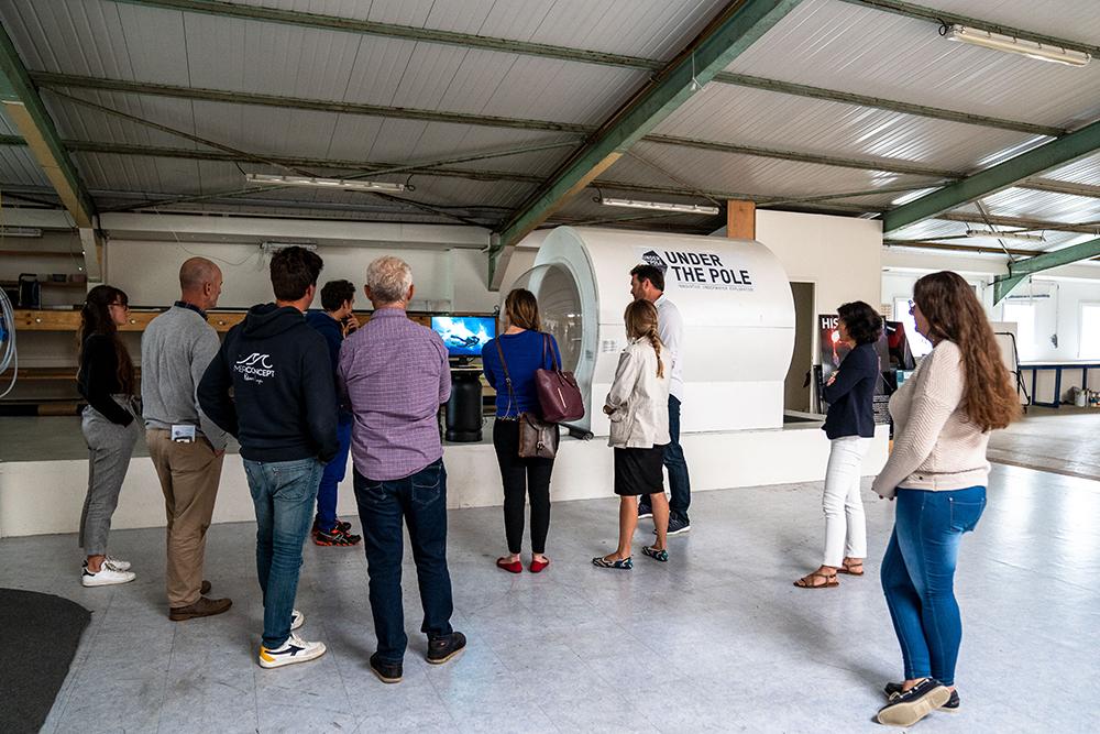 11th Hour Racing visits EXPLORE Research Lab. Photo credit: EXPLORE | Kairos