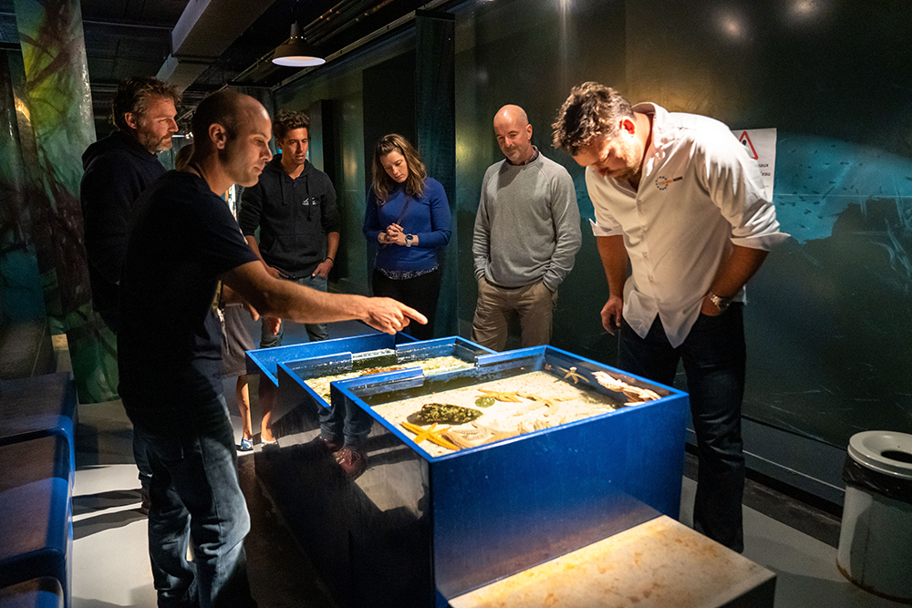 11th Hour Racing visits with French grantee Station Marine de Concarneau part of the Muséum National d'Histoire Naturelle and the world's oldest marine research facility dating back to 1859. Photo credit: Kristi Wilson