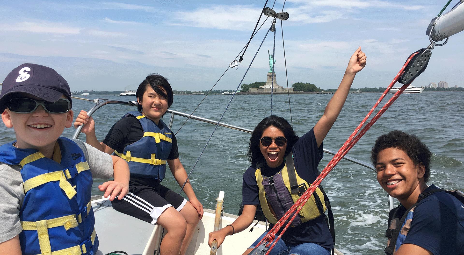 Hudson River Community Sailing, Sail Academy. Credit: HRCS
