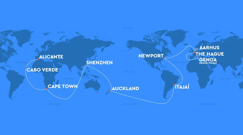The Ocean Race 2020 race route. Credit: The Ocean Race