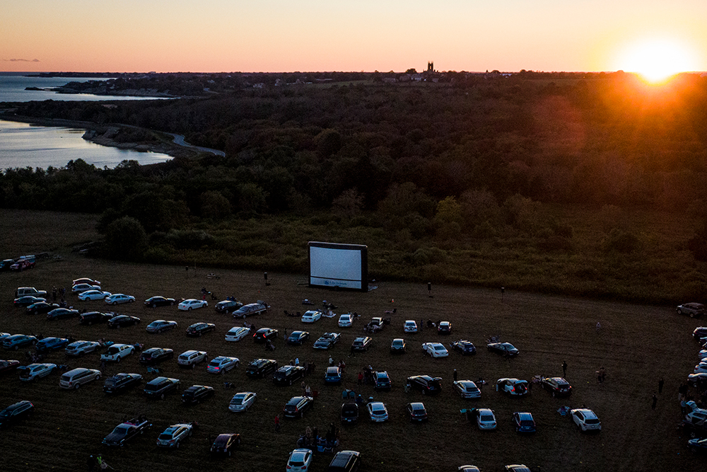 11th Hour Racing Team attends newportFILM's final Drive-in event of the season at Norman Bird Sanctuary to watch the film Gather. Credit: Amory Ross / 11th Hour Racing