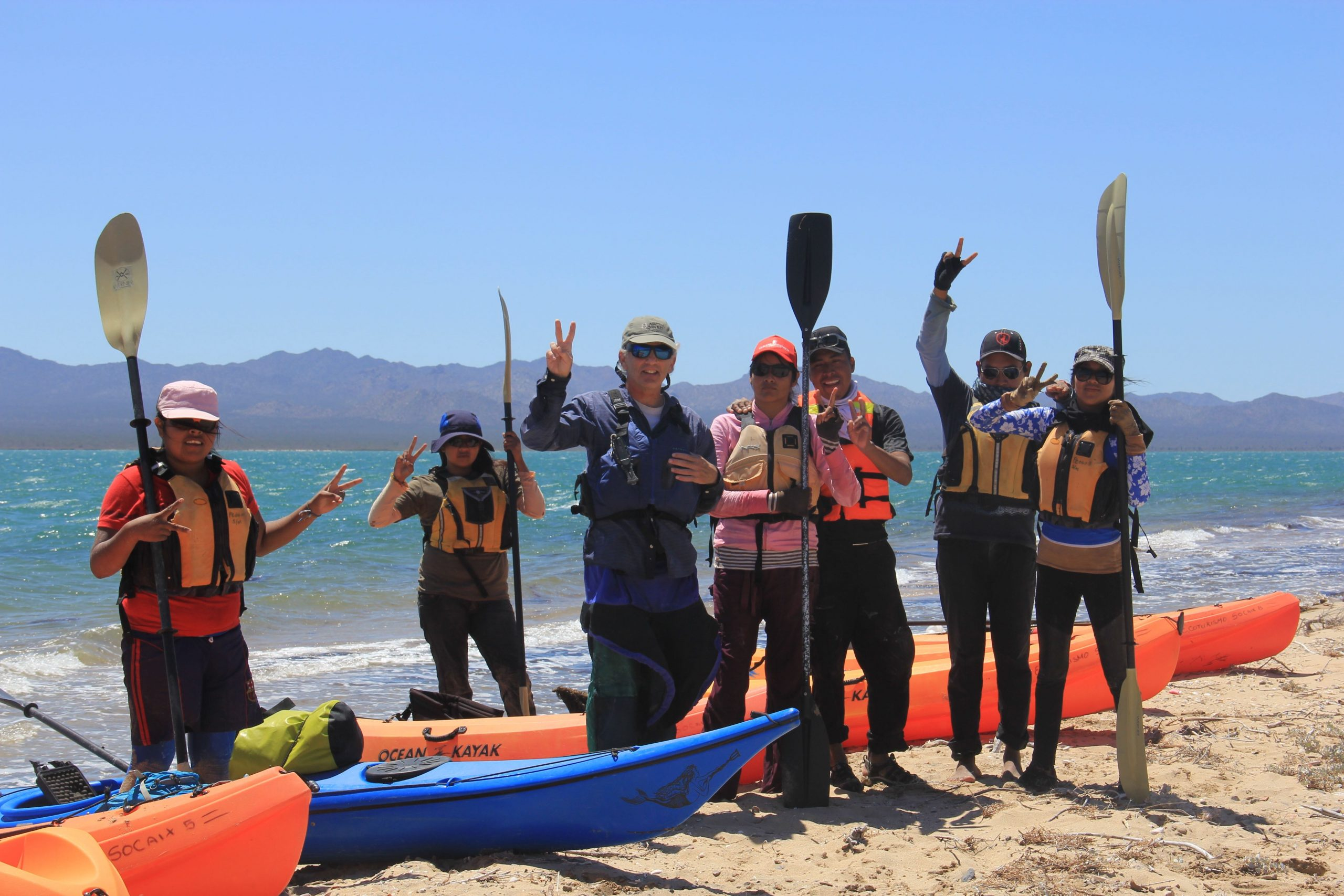 Kayaking course with the National Outdoor Leadership School. Credit: Borderlands Restoration Network