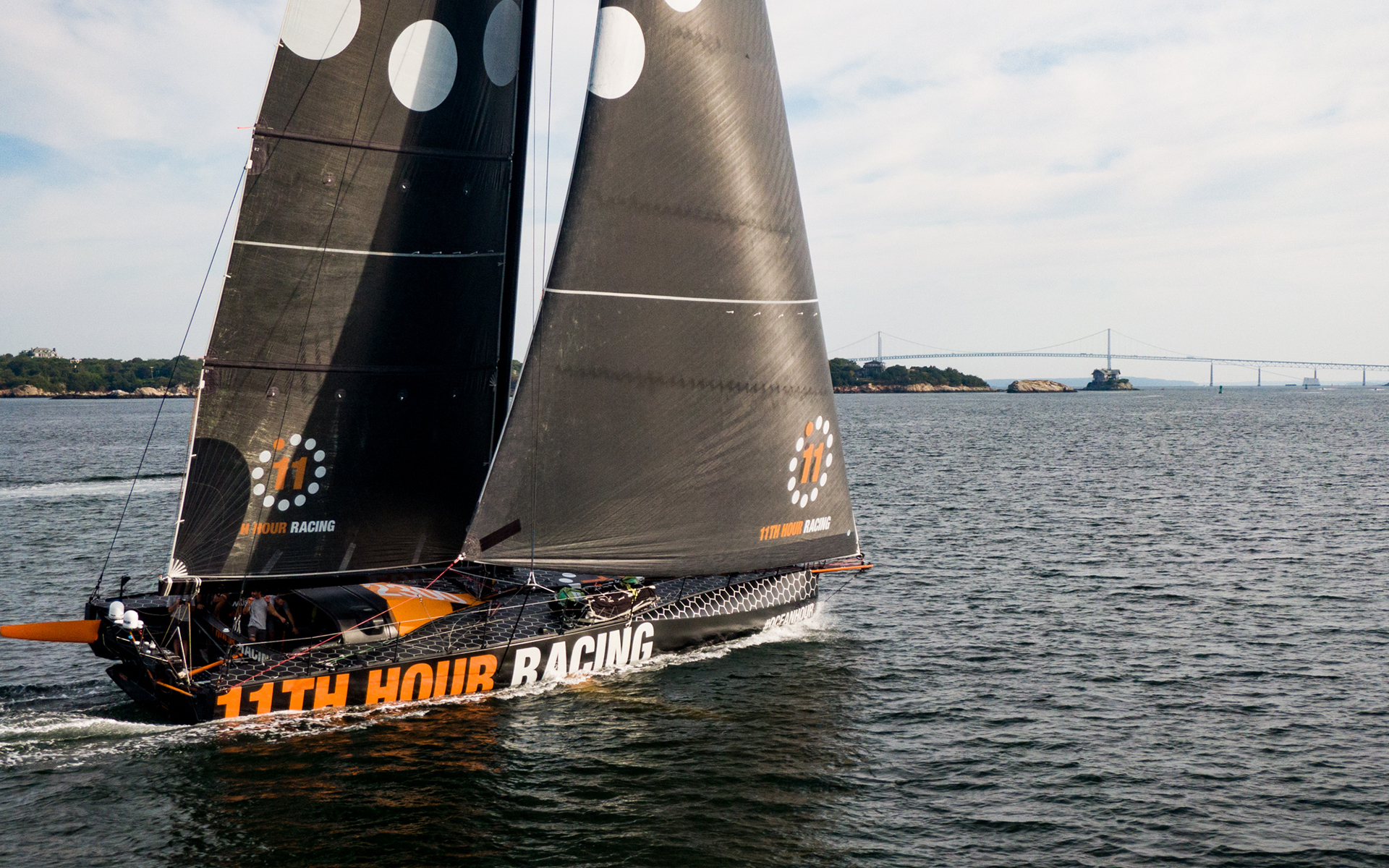 11th Hour Racing Team arrives in Newport, Rhode Island after crossing the Atlantic from France. Credit: Amory Ross | 11th Hour Racing