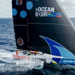 August 30, 2021. 11th Hour Racing Team sets sail on their new IMOCA 60 during during the commissioning period after the boat was launched in August 2021. Photo by Amory Ross / 11th Hour Racing
